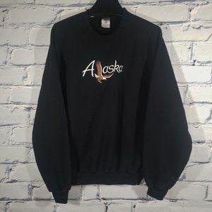 Alaska Embroidered Eagle Sweatshirt Crewneck Souvenir Travel Destination